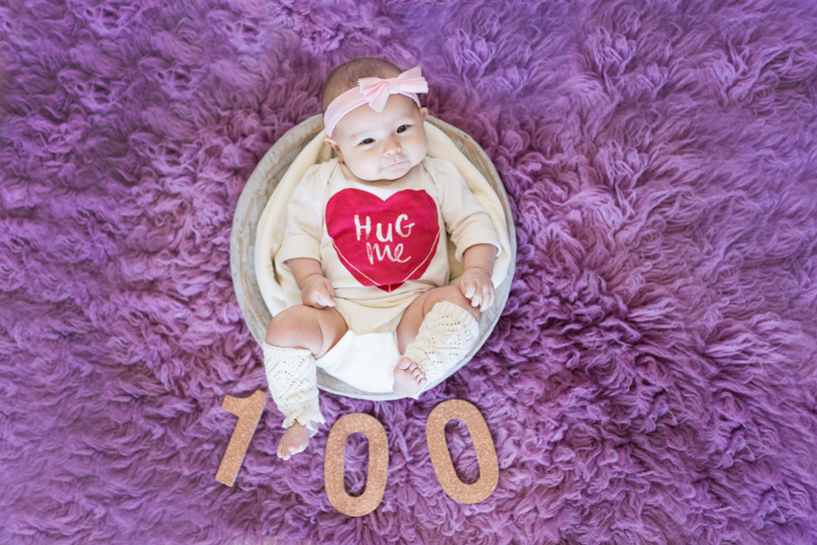 Elizabeth's 100th Day Session – Long Island Child Photographer – Jessica Michelle Photo