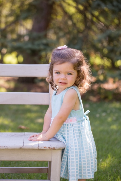 colorful image of young girl with bright blue eyes portrait session by jessica michelle photo