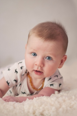 portrait of baby boy with bright blue eyes session by jessica michelle photo