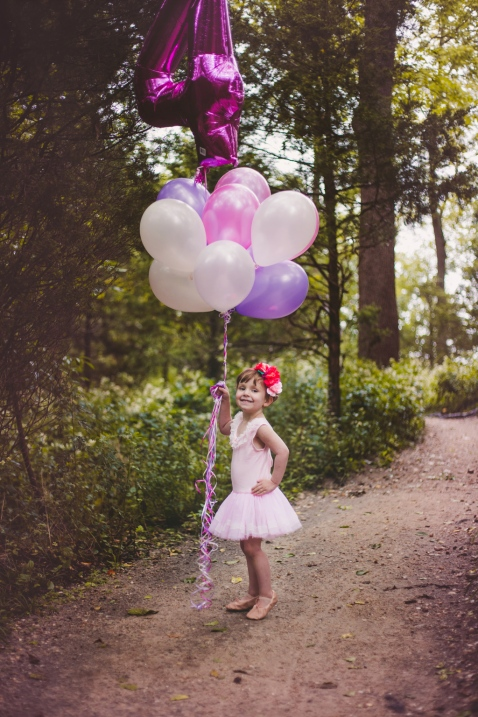 image of four year old girl in pink ballet tutu by jessica michelle photo