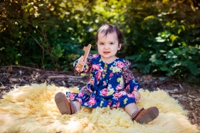 colorful image of one year old baby girl from above by jessica michlle photo port jefferson